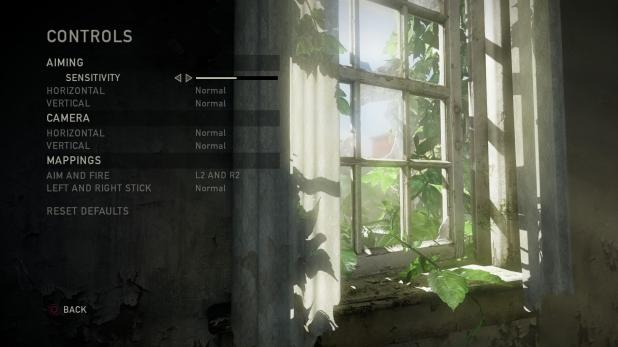 Main Menu - Last Of Us - Options - Controls