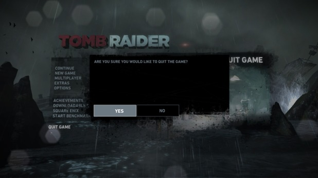Options UI - Tomb Raider