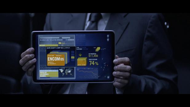 Portable Devices UI - Tron Legacy