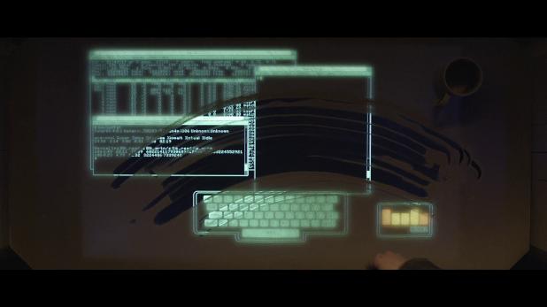 Terminal UI - Tron Legacy