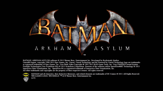 Start Sequence UI - Batman Arkham Asylum