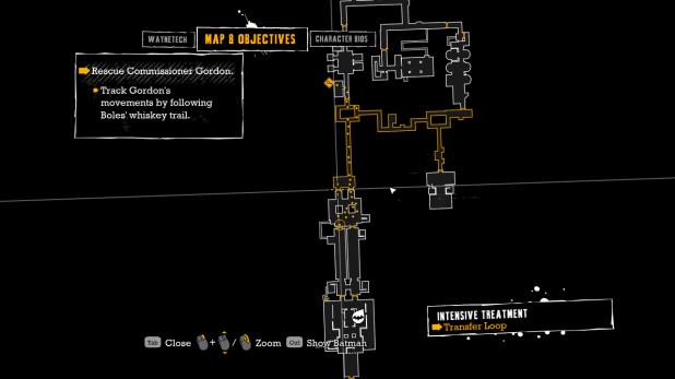 Map UI - Arkham Asylum