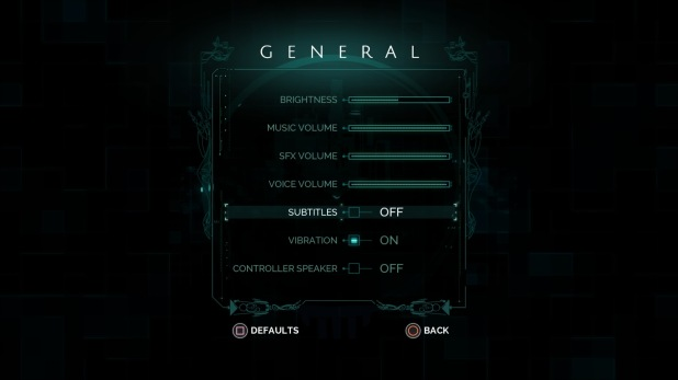 Settings UI - Transistor