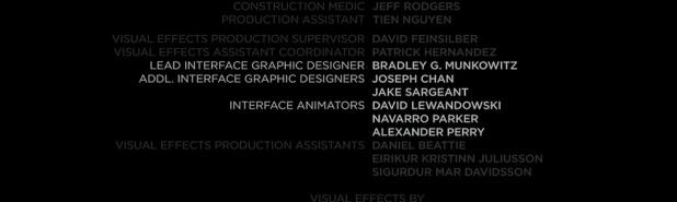 Oblivion Credits