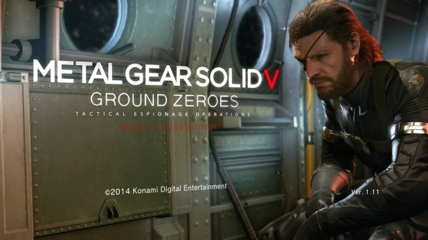 Start Sequence UI - Metal Gear Solid V: Ground Zeroes
