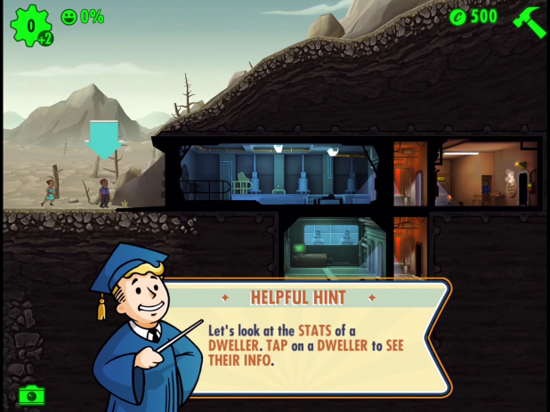 Tutorial UI - Fallout Shelter