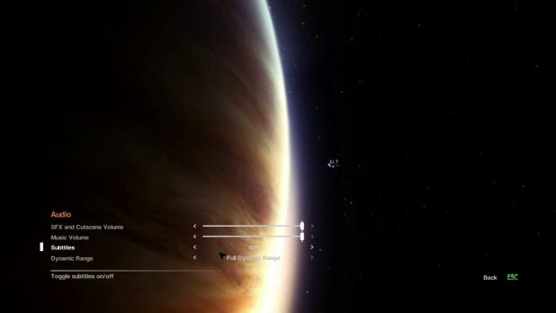 Settings UI - Alien: Isolation